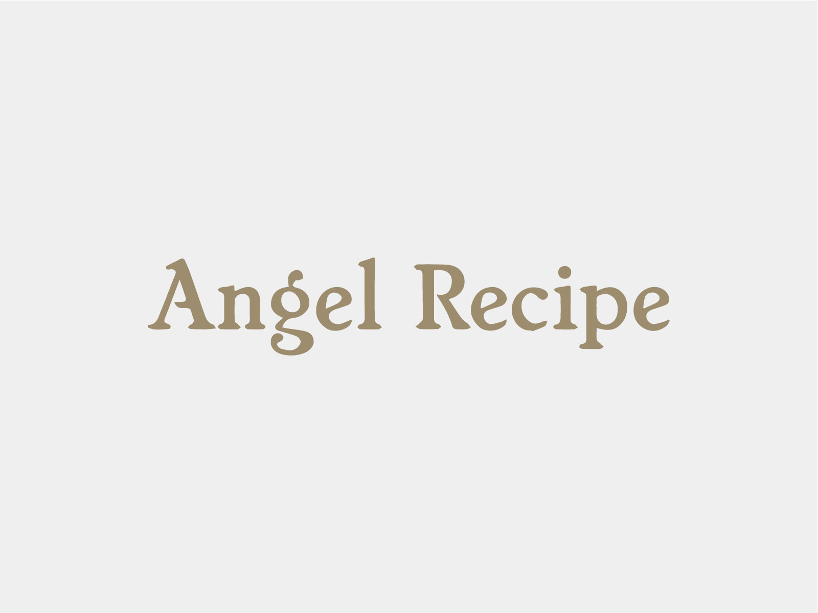 Angel Recipe