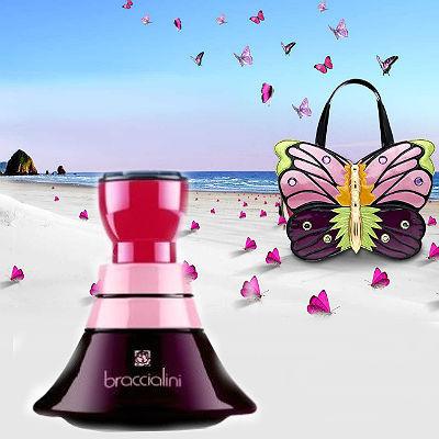 e14aaf170b91 Порхающие бабочки, которые украсили оформленную в ярких поп-цветах  коллекцию сумок, незримо присутствуют и в оформлении аромата Braccialini  Purple.